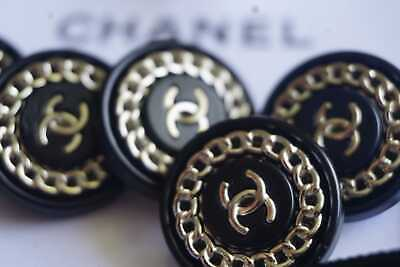 💓💖💗💓💝 CHANEL BUTTONS 12 Pieces  SIZE 0,7 INCH 17 MM BROOCH  Logo CC metal