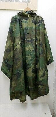 Military Issued Woodland Poncho
