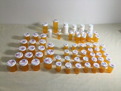 Pill Bottle Storage Containers Set Of 65