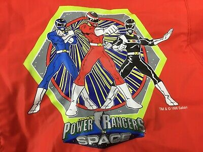 Power Rangers in Space Youth Size 14 Red Raincoat Zip Hooded Jac in the Sac 1998