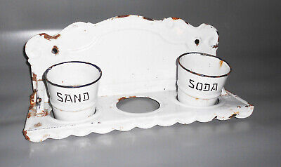 Altes Emaille Email Regal Sand Soda ohne Seife Shabby Chic Loft Deko !