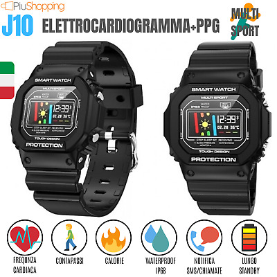 Smartwatch Orologio J10 Fitness Tracker Cardiofrequenzimetro Sport Ios Android