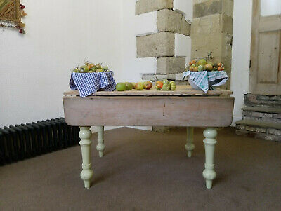 A Fab Original Early Victorian Farmhouse Scullery Scrub Top Table