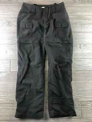 The North Face Womens Convertible Roll Up Hiking Outdoor Pants Grey Size 4 Long