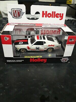 2019 M2 Machines O'Reilly Exclusive Holley 1970 Ford Mustang BOSS 302 1:64 Scale