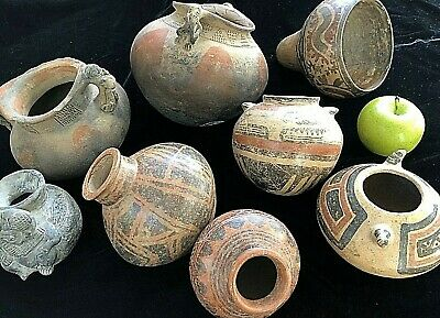 LOT OF 8 - $4,500 Value. Estate-Owned Coclé, Panama Pre-Columbian OLLAS Pottery