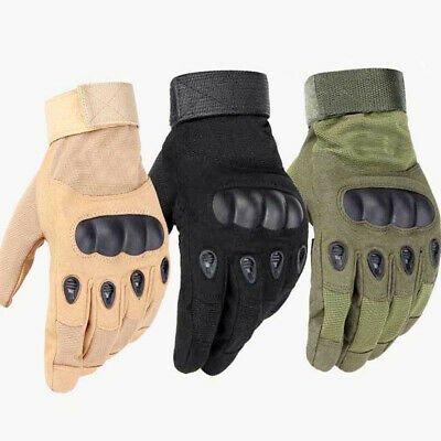 Military Full Finger Gloves Army Combat Hunting Shooting Tactical Hard Knuckle