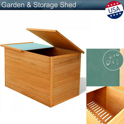 Awesome Outdoor Garden Wood Storage Furniture Box Waterproof Tool Evergreenethics Interior Chair Design Evergreenethicsorg