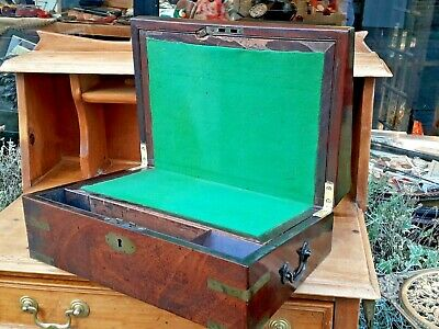 Antique Campaign Slope / Writing Slope / Box / Rosewood ?