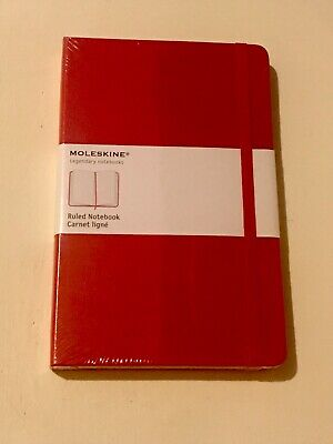 NEW Moleskine Classic Red Hard Cover Notebook Ruled & Lined 5 x 8.25