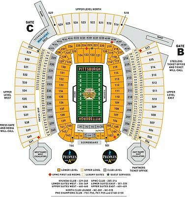 Steelers vs Los Angeles Rams (4) Lower Level Tickets + Parking Pass 11/10/2019