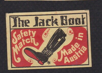 AE Old Matchbox label  Austria  WWWWW11 The Jack Boot