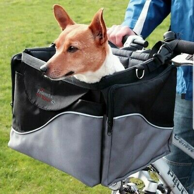 Trixie Deluxe Dog Bicycle Front Box Carrier For Small Dogs Up to 7kg
