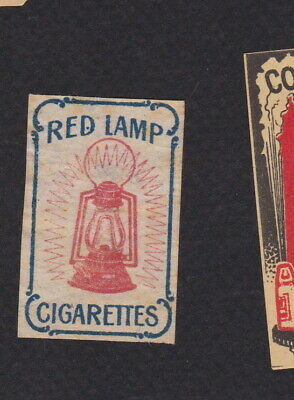 AE Old small Matchbox label  Austria  WWWWW17 Red Lamp