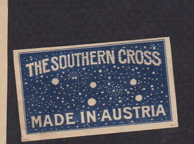 AE Old small Matchbox label  Austria  WWWWW19 The Southern Cross