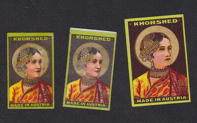 AE Old  Matchbox label  Austria  WWWWW22 Khorshed Woman India