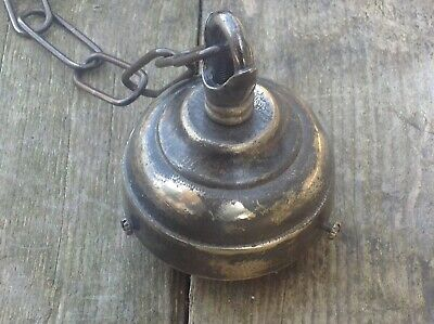 Vintage Old Brass Metal Chandelier Ceiling Hook French 1900 Absolutely Gorgeous