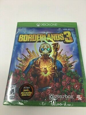 Borderlands 3 Xbox One Factory Sealed  NEW Includes Gold Weapon Skins pack (780)