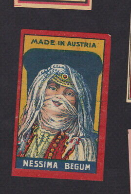 AE Old  Matchbox label  packet Austria WWWWW46 Nessima Begum woman India