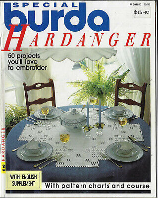 Burda Hardanger Special E921 embroidery table mat cushion tray cloth baby