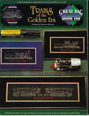 Trains of the Golden Era cross stitch chart Great Big Graphs Woodrow Bowman