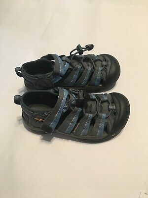 Youth Navy/grey KEEN Sandals Shoes Kids Size 1 Boys Girls Unisex EUC Closed Toe