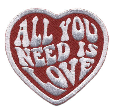 All you need is Love Heart Punk Rockabilly Tattoo Decorative Iron on Patch