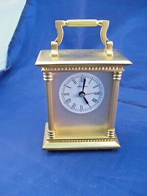 Small Seth Thomas Desk Or Mantle Clock - Goldtone - Battery Operated