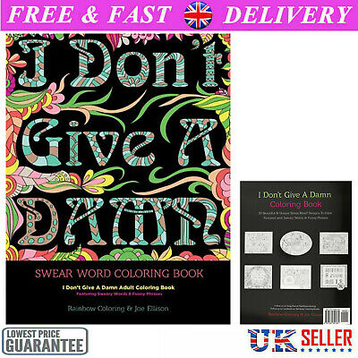 Adult Colouring Books Swear Word Release Your Anxiety Paperback Book 30 Sweary