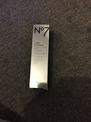 No7 Lift And Illuminate Triple Action Serum Foundation 30 Ml Shade Cool vanilla