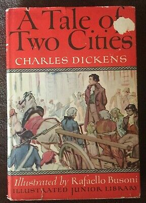 A Tale of Two Cities by Charles Dickens Illustrated Junior Library HC DJ 1948