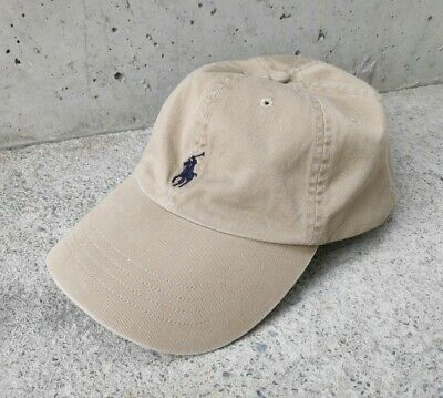 EUC Vintage POLO Ralph Lauren Dad Hat Classic Leather Strapback Original Khaki