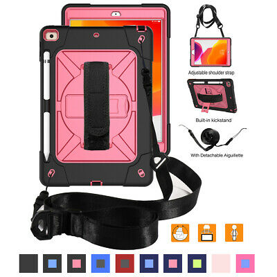 "For Apple iPad 10.2"" 7th Generation 2019 Shockproof Tablet Case with Strap Stand"