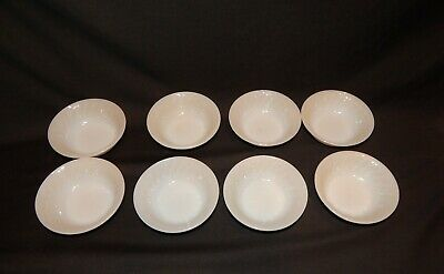 8 Fire-King oven ware swirl fruit bowls 5 inches across