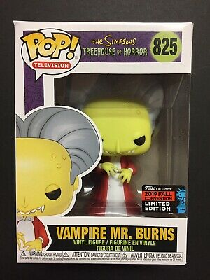 Funko Pop The Simpsons Treehouse VAMPIRE MR. BURNS 825 NYCC FYE Fall Exclusive