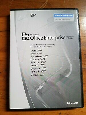 Microsoft Office Enterprise 2007 for PC with Product Key On Back ~ Original Disc