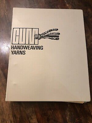 Vintage Trade Show CUM Handweaving Yarns Sample Book 1974 Denmark