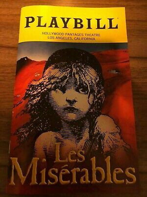 Les Miserables Playbill Pantages Hollywood 2019 Nick Cartell