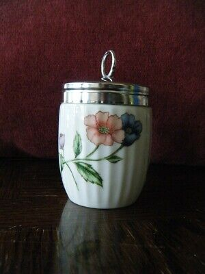 House of Prill Egg Coddler, Jar, King Kize, Poppy Pattern