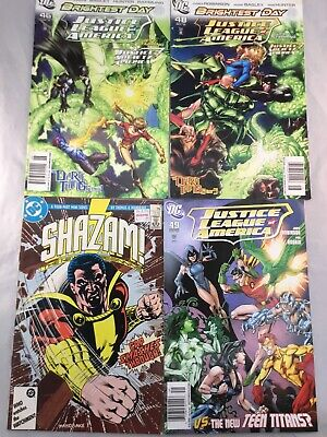 dc comic lot of 4 justice league shazam
