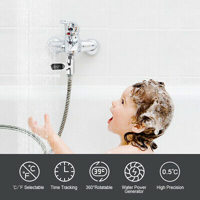 Children Bath 360° LED Shower Temperature Display Water Thermometer Monitor W8D2