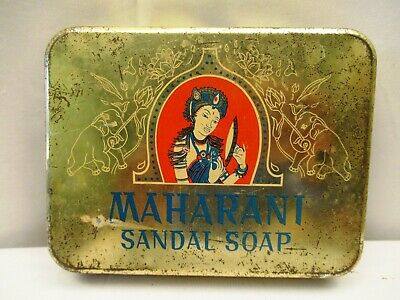 Vintage Maharani Sandal Soap Advertising Tin Litho By Hindustan Lever Collecti*2