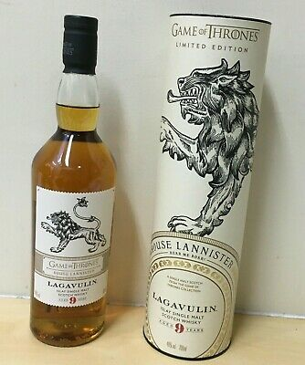 Lagavulin 9 Year old Limited Editing 'Game of Thrones - House Lannister' Scotch