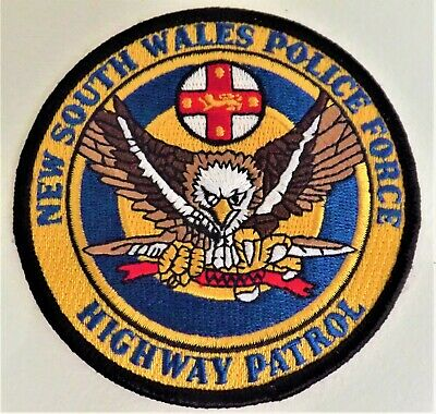 Nsw Police Force Highway Patrol Collectors Patch 9Cm