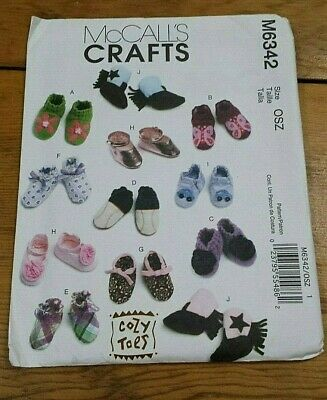 Mccalls Cozy Toes Baby Shoes Boots Pattern M6342  Free Shipping