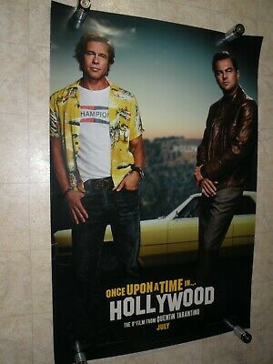"""ONCE UPON A TIME IN HOLLYWOOD 2019 indie PROMOTIONAL MOVIE POSTER 27"""" X 40"""""""