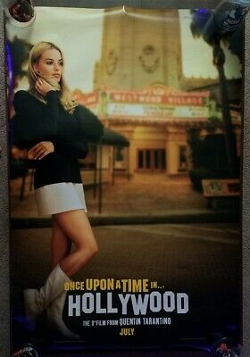 Once Upon A Time In Hollywood 27x40 Original DS Theatrical Movie Poster