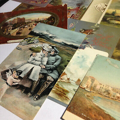 Lot of 20 Antique 1904-08 Used Stamped Postcards