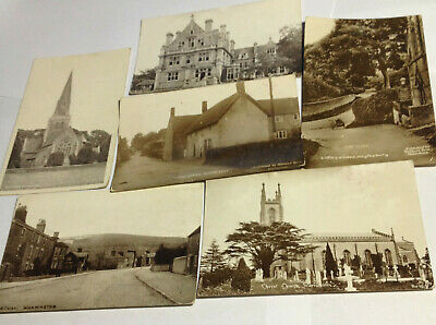 Lot of 6 Antique Unused Stamped English Postcards Stamped in 1917