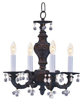 Crystorama 5224-VB-Paris Market Murano Crystal Mini Chandelier, Venetian Bronze
